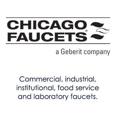 image showing chicago faucets logo and information about their products